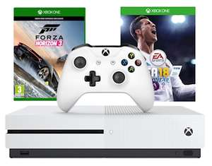 Xbox One S 500GB Konsole + Forza Horizon 3 (Play Anywhere) + FIFA 18 Ronaldo Edition für 230€ (Graingergames)
