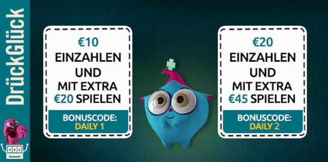 Wertgutschein bei DrückGlück / erhalte 30€ für 10€ / Bis 69% Rabatt auf DailyDeal