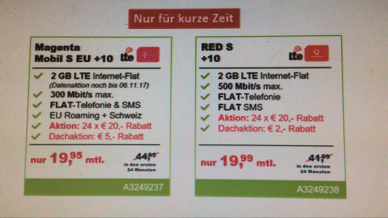 Magenta Mobil S oder Vodafone Red S