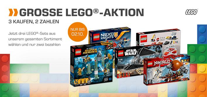 3 für 2 LEGO Aktion z.B LEGO Große Flugschau (60103), LEGO Vader's TIE Advanced vs. A-Wing Starfighter (75150) uvm versandkostenfrei (Saturn)