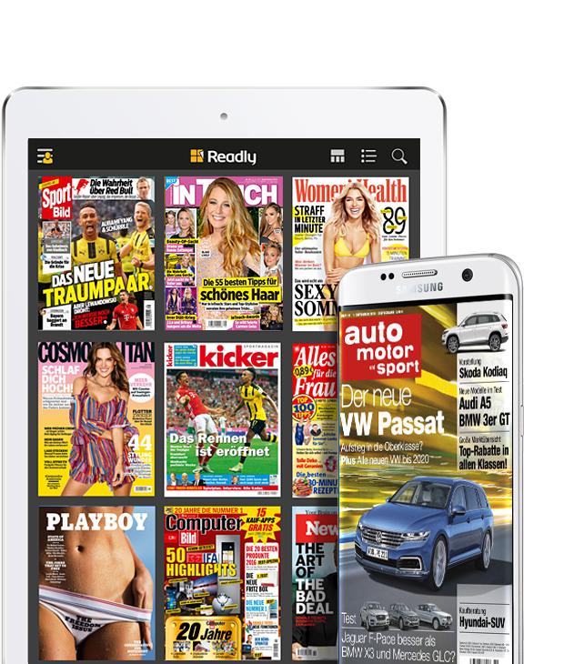 Readly - Magazin Flatrate einen Monat gratis, statt 9,99€