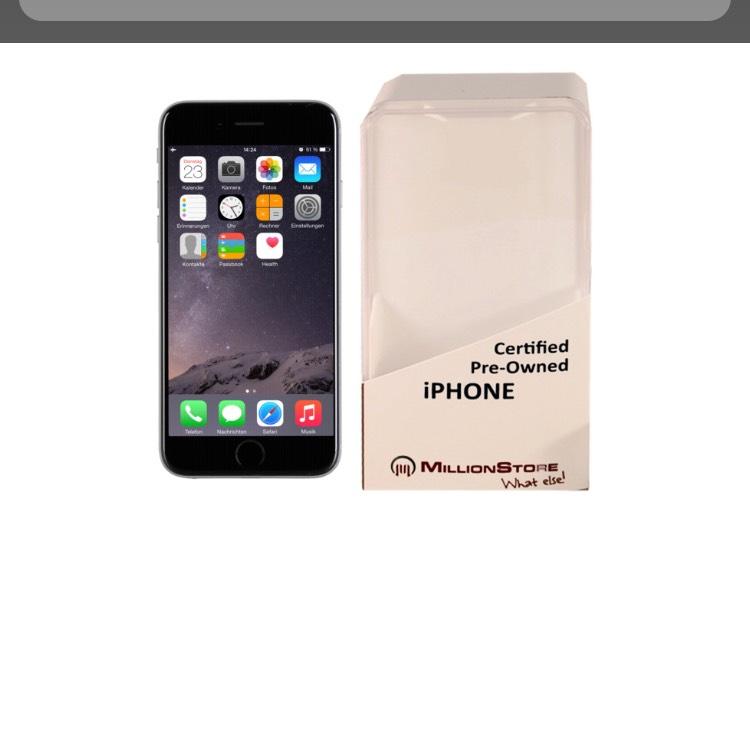 Apple iPhone 6 16GB Spacegrau refurbished/generalüberholt