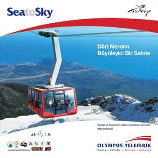 Lokal Türkei Region Antalya Olympos-Seilbahn