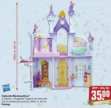 Hasbro Cinderella Märchenschloss  (Disney Princess - Royal Dreams Castle) für 35 € (PVG ca. 90 €) @ Rewe-Center bundesweit