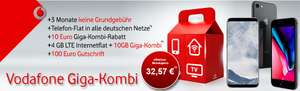 Red M Giga-Kombi 14GB LTE, effektiv 10,99€ oder z. B. S8 + Ladestation + 64GB Karte 1€