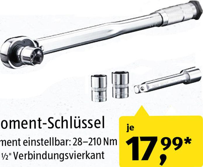 (Aldi Süd) Drehmoment-Schlüssel für sehr günstige 17,99€