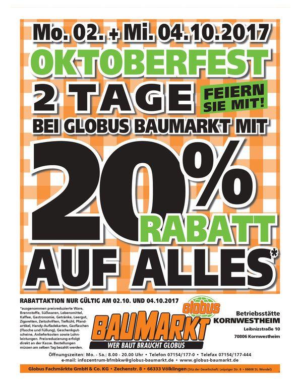 20%Bei Globus Kornwestheim