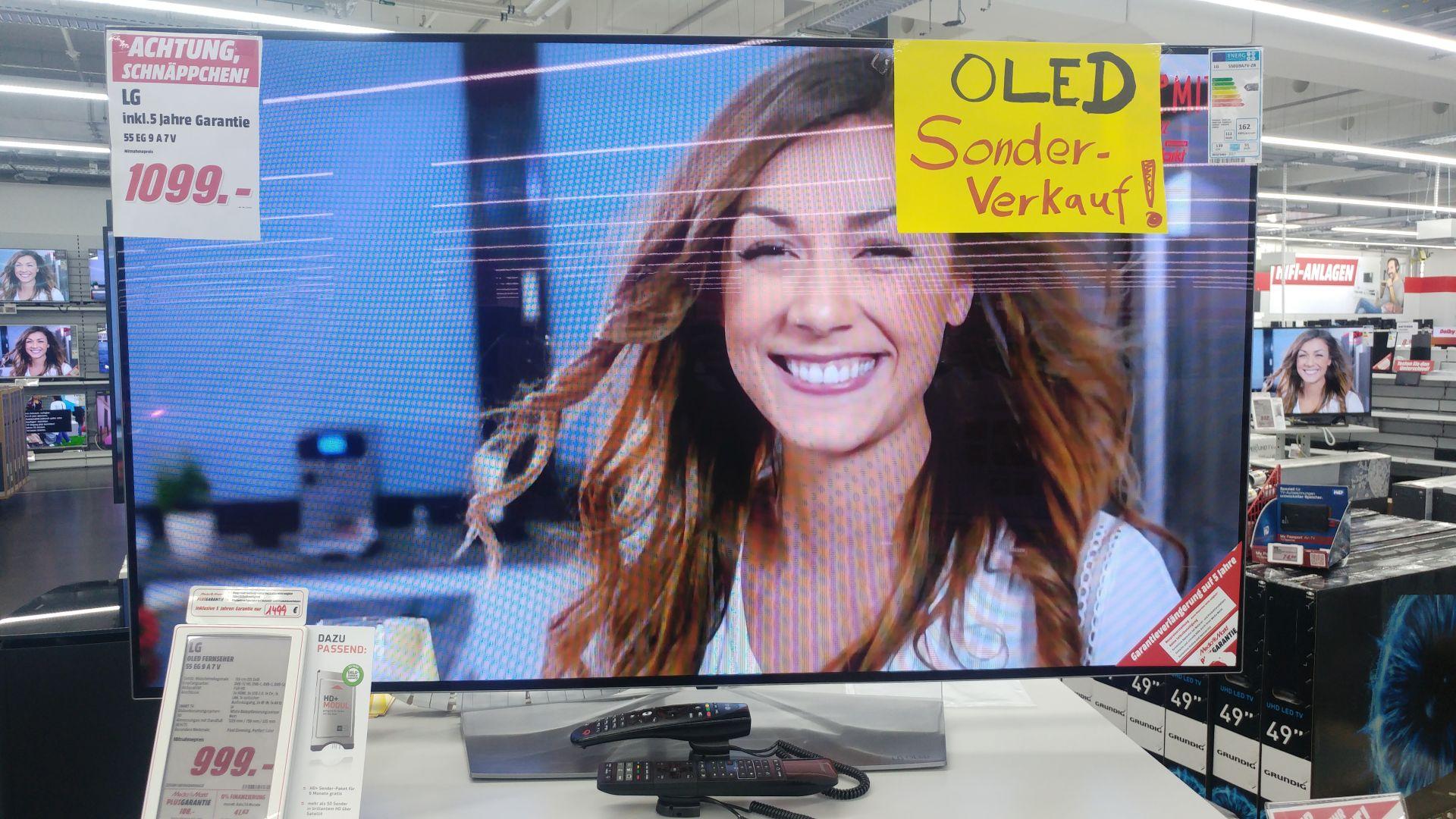 LG OLED 55EG9A7 - 999€ + LG OLED 65W7V für 3999€ - MM Lübeck - Versand deutschlandweit möglich
