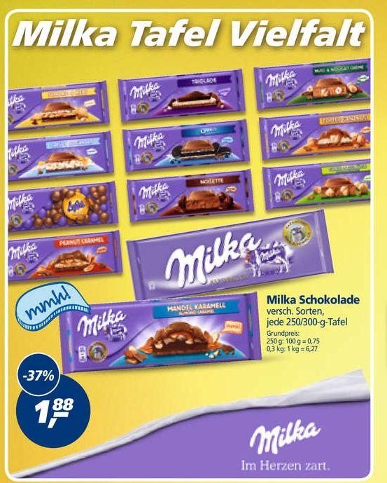 [Real Offline Bundesweit] Schokolade im Angebot, z.B. Milka 250/300gr für 1,88€