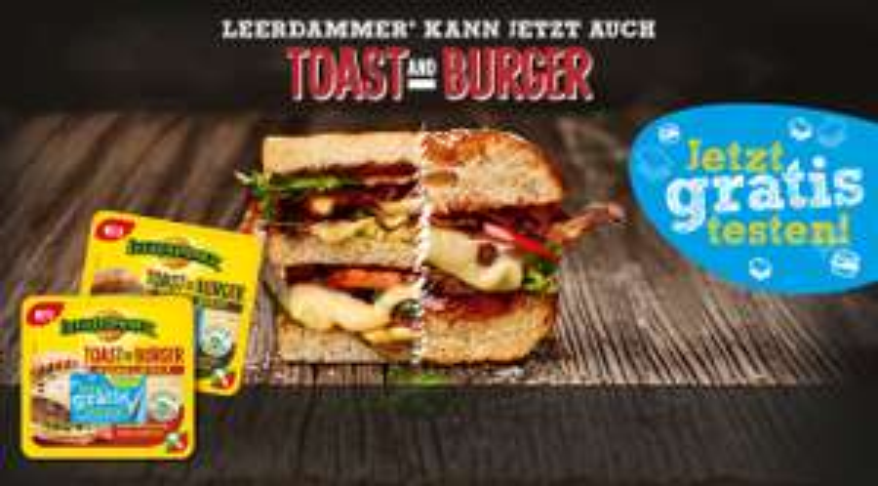 Leerdammer Toast & Burger gratis testen -> Geld zurück