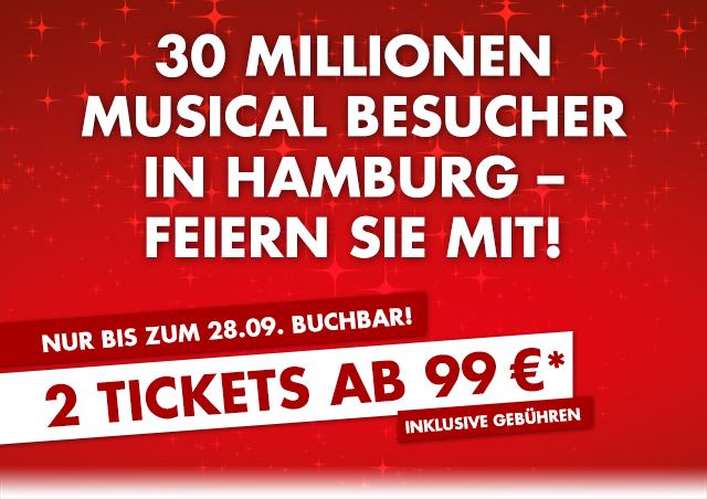 [Stage] Musical Disneys König der Löwen oder Aladdin: 2 Tickets ab 101,50€