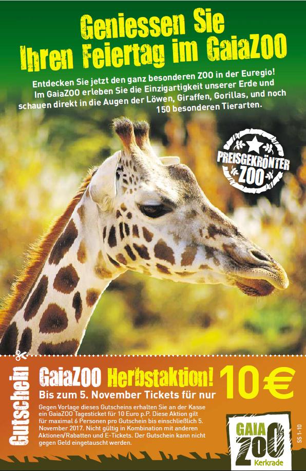 GaiaZoo Kerkrade - NUR 10€ statt 20,50 - mehr als 50 % Rabatt