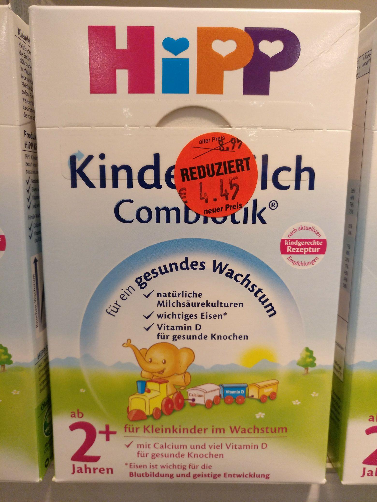 dm Hipp Kindermilch Combiotik 2+ MHD-Ware [Lokal Wuppertal Barmen]