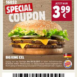 Burger King - Big King XXL 3,99€