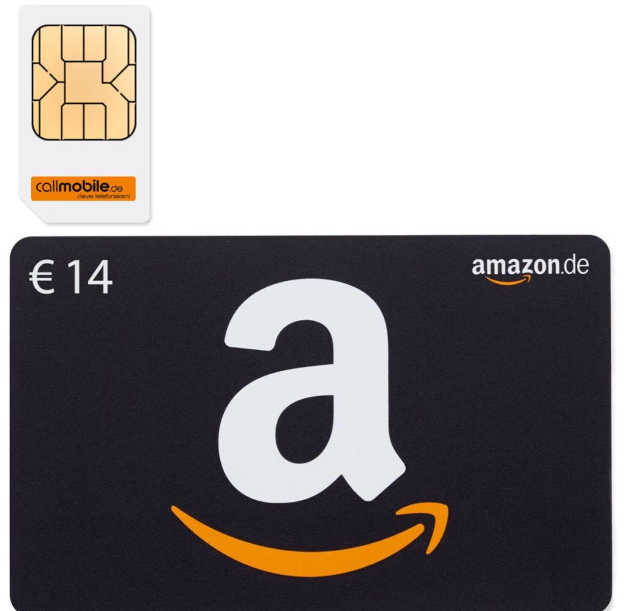 Callmobile SIM mit 14€ Amazon Gutschein für 2,95 €