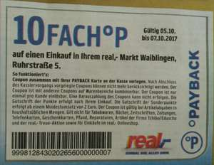[Lokal] 10 fach Paybackpunkte real Waiblingen vom 5. bis 7.10.