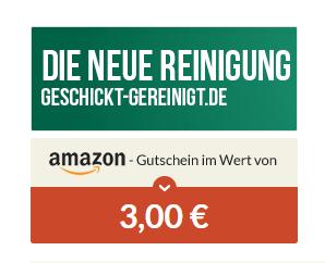 [Spartanien] 3 EUR Amazon + erste Textilreinigung bis 10 Euro kostenlos und versandkostenfrei