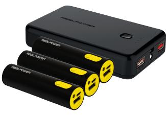 Realpower Powerbank Family-Pack: 1x 10000mAh + 3x 2600mAh für 15€ [Mediamarkt Abholung]