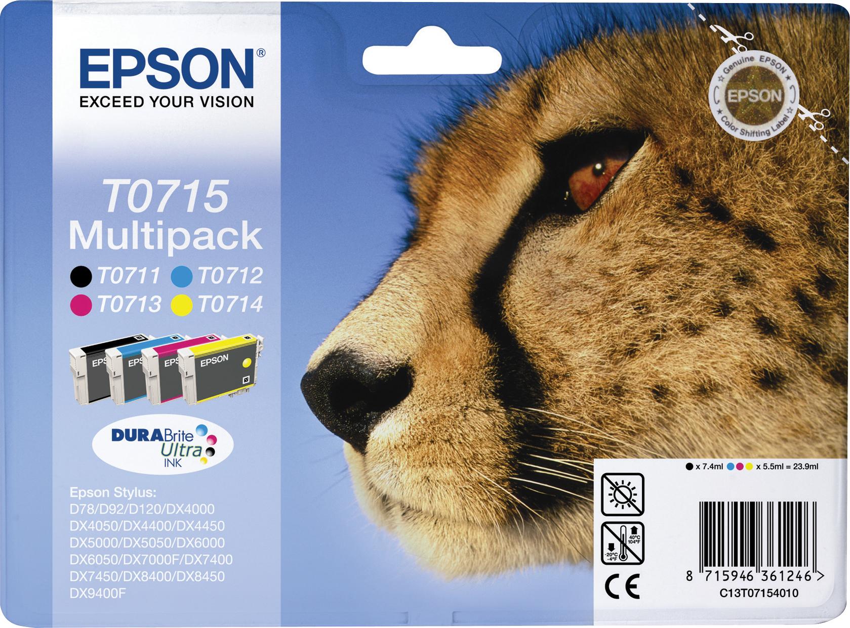 Epson Multipack T0715 Druckerpatronen T0711 T0712 T0713 T0714 (bulk) IT Niederrhein [-12%]