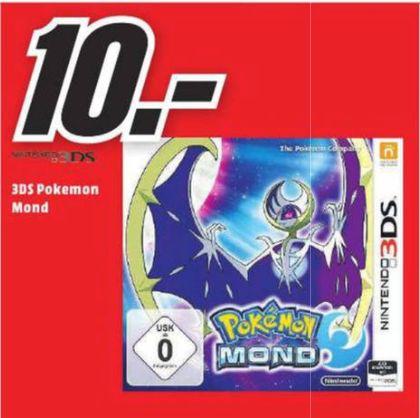 [Loka Mediamarkt Herzogenrath- Nur am 07.10 von 20.00 Uhr bis 22.00 Uhr]  Pokémon Mond Nintendo 3DS für 10,-€ // Toshiba TransMemory U202 8GB USB stick USB 2.0 weiß für 2,-€