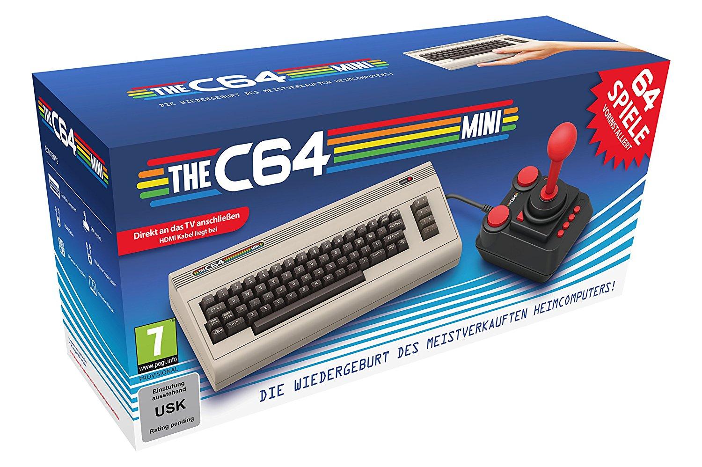 [Vorbestellung] Retro-Konsole THE C64 MINI Brotkasten mit 64 Spielen und Joystick