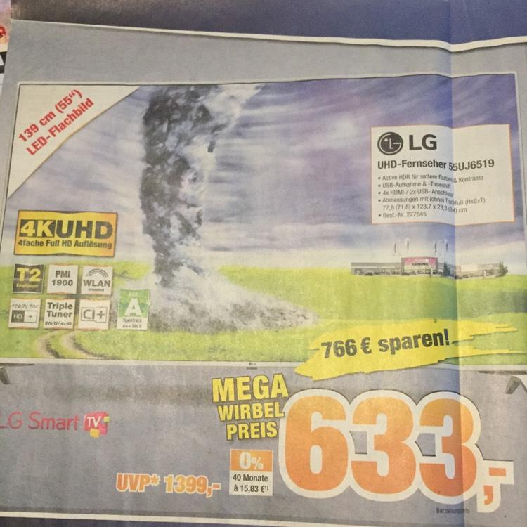 [Lokal -EXPERT] LG 55UJ6519 (Ultra HD, Triple Tuner, Smart TV, Active HDR)