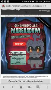 [Gamestop] Download Code Marshadow in Pokémon Sonne und Mond