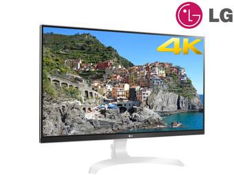 """LG  27UD69-W  27""""/68.6cm 4K Monitor, 3840x2160, 5ms, AH-IPS, 99% sRGB, AMD FreeSync, 40-60Hz, 2x HDMI 2.0, 1x DisplayPort 1.2, 1x Line-Out, VESA: 100x100 (IBOOD)"""