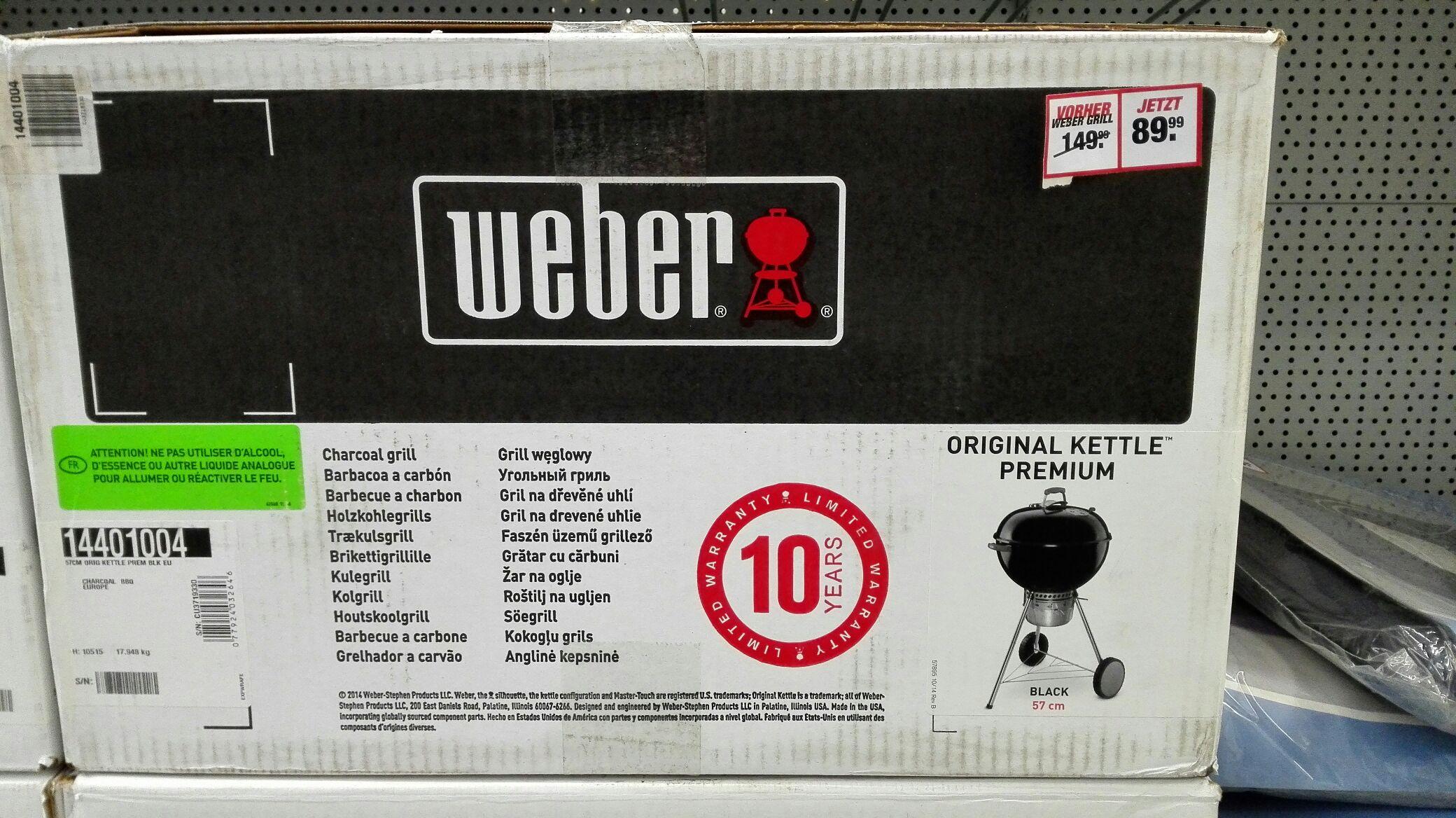 (Lokal Toom Kempten) Weber 57er Premium Kettle