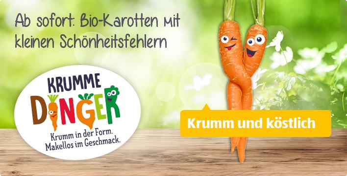 Aldi Süd - Bio Karotten, 1 kg Beutel - Krumme Dinger, Nur 65 Cent