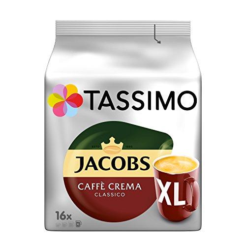 Tassimo Jacobs Caffè Crema Classico XL, 5er Pack Kaffee T Discs (5 x 16 Getränke)  12€ für die erste Bestellung @ amazon Spar-Abo (Prime only)