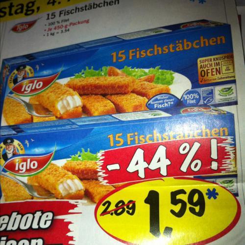 Iglo Fischstäbchen 15 Stück 04.08 Lidl