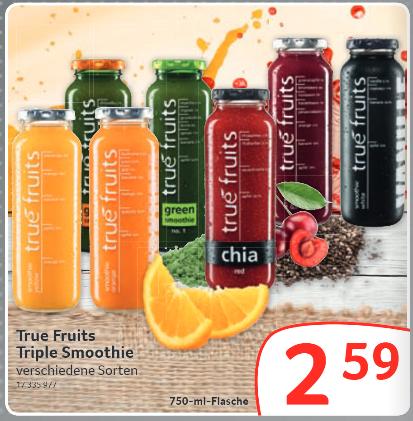 [Offline / Gewerbetreibende] True Fruits Triple (750ml) Smoothies