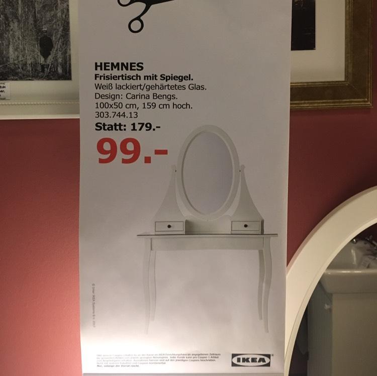 IKEA Hemnes Frisiertisch mit Spiegel (44,69% Ersparnis)