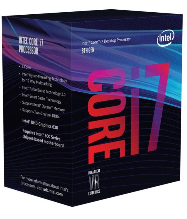 Intel Core i7-8700 CPU 6x3,2 GHz (Coffee Lake-S) bei NBB mit MASTERPASS als Vorbestellung