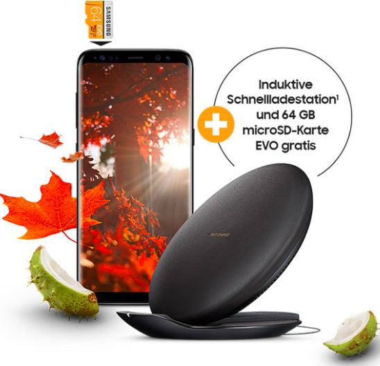 Vodafone Young L GigaKombi mit 16 GB LTE für eff. 26,09€ / Monat inkl. Samsung S8 + induktive Ladestation + microSD 64 GB für 29€ oder iPhone 7 32 GB für 79€ Zuzahlung
