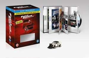Fast and Furious 1-7 (Blu-ray) + Limited Edition Digibook + Modellauto für 18,70€