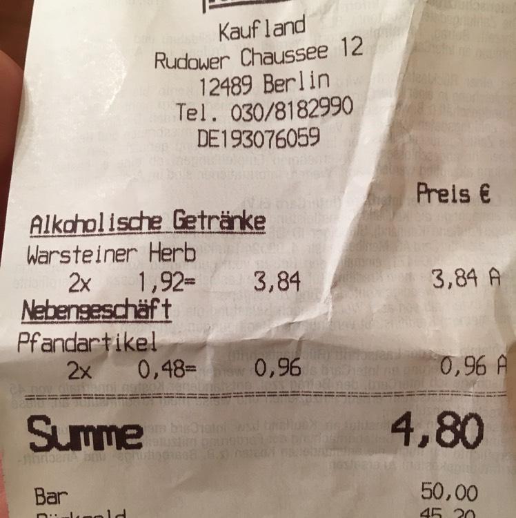 Sixpack Warsteiner Herb im Kaufland Berlin-Adlershof