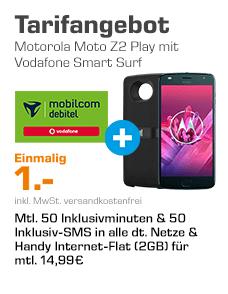 [Saturn online] MOTOROLA Moto Z2 Play inkl. JBL SoundBoost 2 mit Vertrag (2GB/Monat)