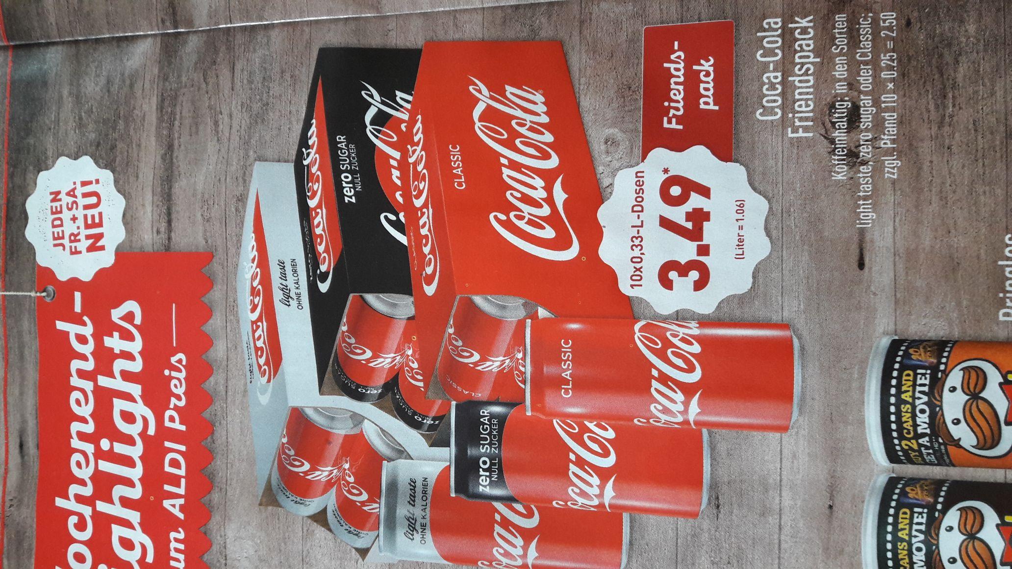 Coca Cola Friendspack ab 20.10.17 bei Aldi Nord