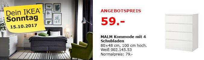 [IKEA Ludwigsburg / am 15.10.] - MALM Kommode mit 4 Schubladen, weiß