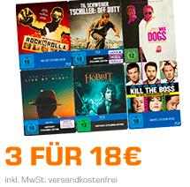 Saturn: 3 Blu-ray Steelbooks für 18€