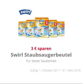 [scondoo] 3 € Cashback für Swirl Staubsaugerbeutel (bis 31.03.2018)