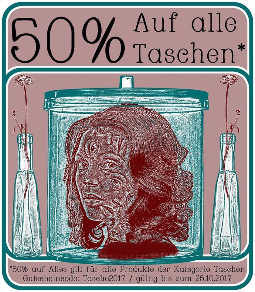 50% Rabatt auf alle Taschen bei candyfloss.de
