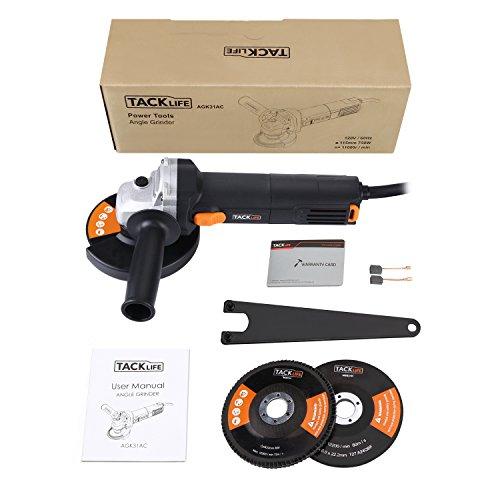 [Amazon] Tacklife Winkelschleifer 750 Watt / 125mm + einer Trenn-, Schleif- und Fächerscheibe für 30,99 Euro