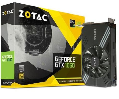 Zotac GTX1060 @ 6GB @ Mini (5 Jahre Garantie) inkl. Versand