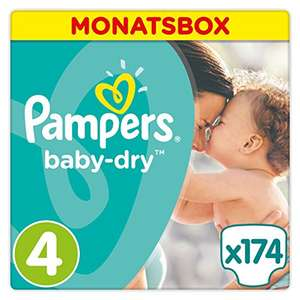 Pampers® Baby Dry Windeln, Gr. 4 (8-16 kg), Monatsbox, 1-er Pack (1 x 174 Stück)