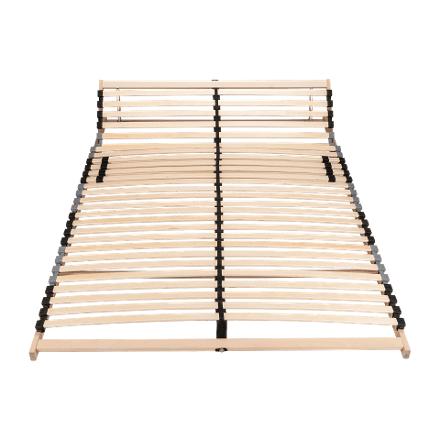 Aldi Nord  7-Zonen-Lattenrost mit Härteregulierung und verstellbaren Kopfteil Für Bettenmaße: B×L: ca. 140×200 cm