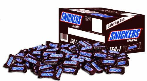 Kartons mit 150 Mini-Riegel: Snickers 2,8kg für 16,79€ wieder verfügbar