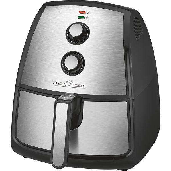Profi Cook PC-FR 1115 für 64€bei Plus.de - Edelstahl-Heißluft-Fritteuse mit 3,5 L Fassungsvermögen, stufenlos regelbarer Thermostat, Timer, 1500 W
